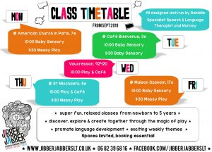 Class Timetable Sept 2019